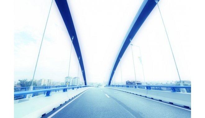 """Inca un pod spectaculos peste Bucuresti. Cum arata """"Podul albastru"""" (GALERIE FOTO)"""